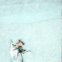 F3-091918 可愛い子猫(子犬)と女の子