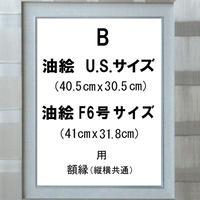 額縁  B(銀)  U.S.サイズ&F6号サイズの油絵用