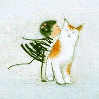 F4-090718 可愛い子猫と女の子