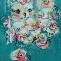 usF6-070719 可愛い子猫とお花
