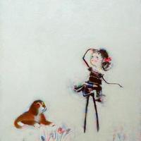 F4-072319 可愛い子犬と女の子