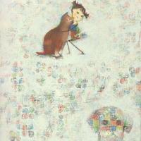 F4-072419   可愛い子猫と子犬と女の子