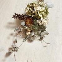 ヒーリングドライスワッグ ― 紫陽花とユーカリ ― 厄をよけてHAPPYに
