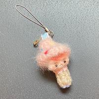 きのこぼうやのバッグチャーム 〈ピンク〉