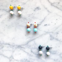 【PONPON EARRINGS】