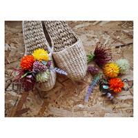 【Handicraft KIT】お花のスリッパキット_Orange  field