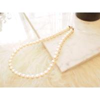 【受注品】【Ryona song】本真珠一連ネックレス:〈RN001〉一粒ダイヤモンド