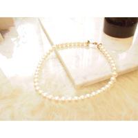 【受注品】【Ryona song】本真珠一連ネックレス:〈RN002〉一周ダイヤモンド