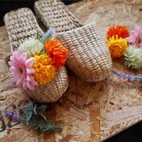 【完成品】お花のスリッパキット_Garbera