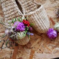 【完成品】お花のスリッパキット_Lavender park