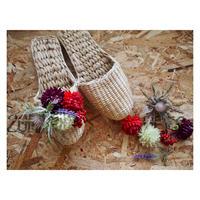 【Handicraft KIT】お花のスリッパキット_赤い木ノ実