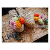【Handicraft KIT】お花のスリッパキット_Garbera