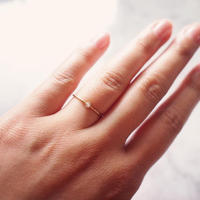 【10K】 One stone thin ring_ ダイヤモンド