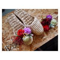 【Handicraft KIT】お花のスリッパキット_Passion Red