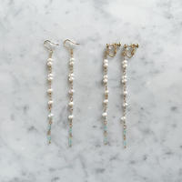 【LIBERTY】_Candy pearls :Thin wind ピアス210306 / イヤリング210406_Mint sky