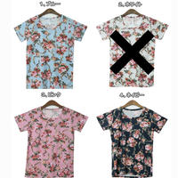 花柄Tシャツ③