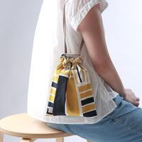 ドローストリングバッグ(巾着袋)/黄藍色