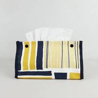 ティッシュカバー/Yellow&Navy