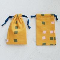 スモールドローストリングバッグ(巾着袋)/凧オレンジ