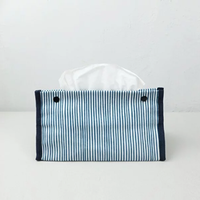ティッシュカバー/Thin Navy Blue