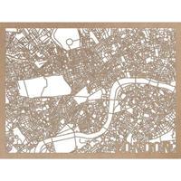 RED CANDY●CITYRMAPLON●市内地図ロンドン ●ナチュラル●50×70㎝●City Map London