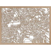 RED CANDY●CITYRMAPBER●市内地図ベルリン●ナチュラル●50×70㎝●City Map Berlin
