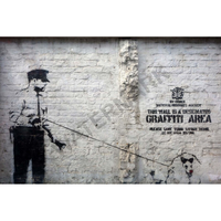"""バンクシー *グラフィティエリア/Graffiti Area*92 x 61 cm (36"""" x 24"""" )*キャンバスアート(フレーム無し)*BANKSY"""