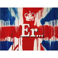 """バンクシー *Er Royal Jubilee Street Union Flag*61 x 46 cm (24"""" x 18"""")*キャンバスアート(フレーム無し)*BANKSY"""
