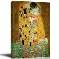 """グスタフ・クリムト*GUSTAV KLIMT*接吻 (The Kiss)*キャンバスアート 30x40cm (12""""×18"""")"""
