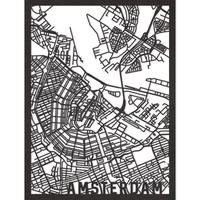 RED CANDY●CITYRMAPAMS●市内地図アムステルダム●黒●50×70㎝●City Map Amsterdam