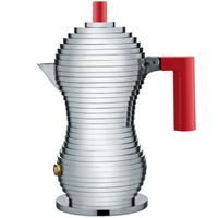 アレッシィ*ALESSI * 「プルチーナ」エスプレッソコーヒーメーカー (3杯用/赤) *Pulcina【正規輸入品】