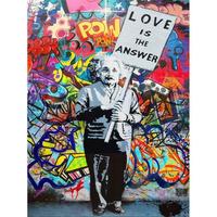 """キャンバスアート*アインシュタイン「Love is Answe」40x60cm(16""""×24"""")*EINSTEINE"""