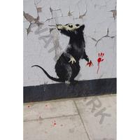 """バンクシー *Rat Detai/ラットディテール*61 x 92 cm (24"""" x 36"""")*キャンバスアート(フレーム無し)*BANKSY"""