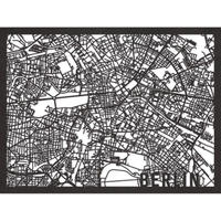 RED CANDY●CITYRMAPBER●市内地図ベルリン●黒●50×70㎝●City Map Berlin