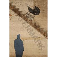 """バンクシー *階段の乳母車/Pram Stairs*61 x 92 cm (24"""" x 36"""")*キャンバスアート(フレーム無し)*BANKSY"""