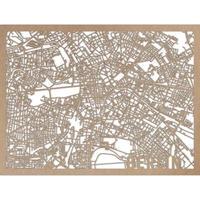 RED CANDY●CITYRMAPBER●市内地図ベルリン●ナチュラル●30×40㎝●City Map Berlin