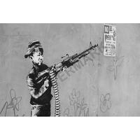 """バンクシー *ボーイ・ソルジャー*92 x 61 cm (36"""" x 24"""")*キャンバスアート(フレーム無し)*BANKSY"""
