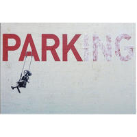 """バンクシー *駐車場 →公園 PARKING→PARK  40×60㎝ (16"""" x 24"""") *キャンバスアート*BANKSY"""