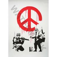"""バンクシー *CND Soldiers/Cndソルジャーズ*61 x 87 cm (24"""" x 34"""")*キャンバスアート(フレーム無し)*BANKSY"""