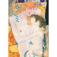 グスタフ・クリムト*母と子/Mother and Child*59.4x84cm (A1)*キャンバスアート(フレーム無し)*Gustav Klimt