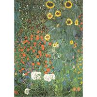 グスタフ・クリムト*ファームガーデン/Farm Garden*59.4x84cm (A1)*キャンバスアート(フレーム無し)*Gustav Klimt