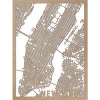 RED CANDY●CITYRMAPNYC●市内地図ニューヨーク●ナチュラル●30×40㎝●City Map London