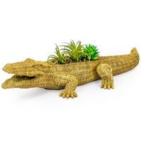 RED CANDY●MR-CRT40●藁のクロコダイルのプランター●Waylen the Wicker Crocodile Planter