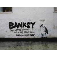 """バンクシー *Not The Messiah Roller Stork*61 x 46 cm (24"""" x 18"""")*キャンバスアート(フレーム無し)*BANKSY"""