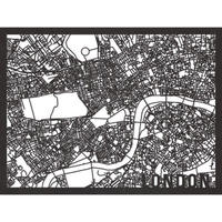 RED CANDY●CITYRMAPLON●市内地図ロンドン ●黒●50×70㎝●City Map London