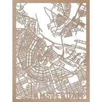 RED CANDY●CITYRMAPAMS●市内地図アムステルダム●ナチュラル●50×70㎝●City Map Amsterdam