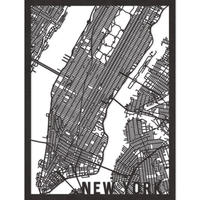 RED CANDY●CITYRMAPNYC●市内地図ニューヨーク●黒●50 x 70 cm●City Map New York