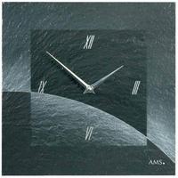 アームス ◆AMS 9518◆スレート(粘板岩) 壁掛け時計(エアブラシデザイン)◆ドイツ製クォーツムーブメント