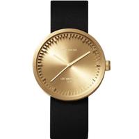 レフ アムステルダム◆LEFF amsterdam Tube D38◆腕時計◆ブラス、ブラックレザー