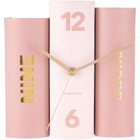 カールソン◆KARLSSON KA5730◆テーブルクロックブック置時計◆ピンク◆Table Clock Book